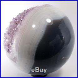 Agate and Amethyst Crystal Sphere (EA7220) ball scrying gem stone reiki healing