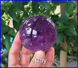 Amethyst Sphere/Ball Large 70mm, 570 grams Crystal/Mineral + Free Stand