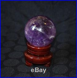 Amethyst Sphere/Ball Large 85mm, 800 grams Crystal/Mineral + Free Stand