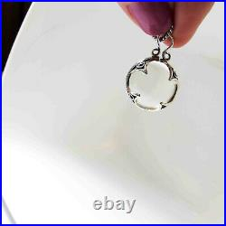 Art Deco Style Pools of Light Rock Crystal Undrilled Orb Sphere Pendant Necklace