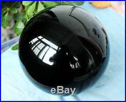 Black OBSIDIAN 10 Inch Across Scrying MIRROR Crystal BALL Volcanic TAROT Sphere