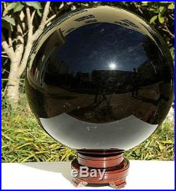 Black OBSIDIAN 230mm Scrying MIRROR Crystal BALL Sphere China's Finest Rock