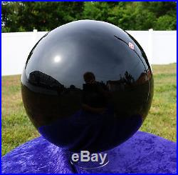 Black OBSIDIAN 36 Pound Scrying MIRROR Crystal BALL Sphere Mexico's Finest Rock