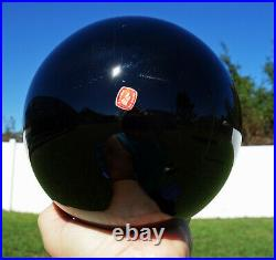 Black OBSIDIAN 6 Inch SCRYING Mirror Crystal Ball Volcanic Glass Sphere For Sale