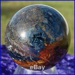 Blue & Red PIETERSITE Crystal Sphere PETERSITE Ball Hard to Find Rare Stunning