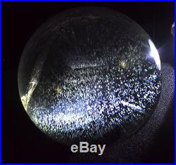 Blue snow angel's feather blue rutilated natural quartz crystal sphere ball
