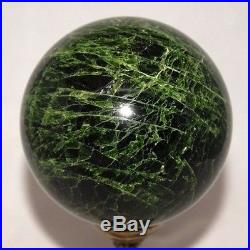 CHROME-DIOPSIDE CRYSTAL SPHERE BALL RUSSIA 85 mm / 3.35 in