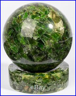 CHROME DIOPSIDE sphere 2.72 with stand crystal stone ball #6360P RUSSIA
