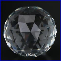 Clear Cut Crystal Sphere Faceted Gazing Ball Prisms Suncatcher Decor coi