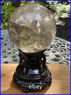 Clear Quartz Large Crystal Ball AAA+ 116mm Diameter With Stand 2340g Huge