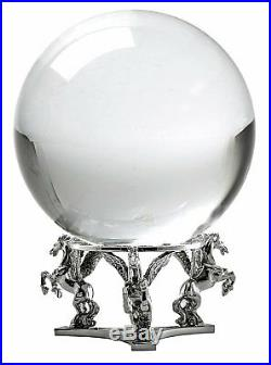 Crystal Ball 130mm (5 in.) Including Silver Pegasus Stand