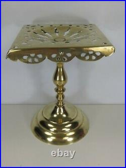 Crystal Ball Gazing Divination Stand Antique Brass Rare