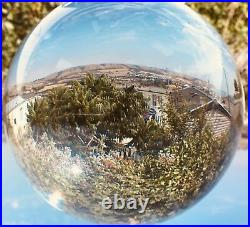 Crystal Ball on stand 60 mm 200 mm Feng Shui Wiccan Scrying Photography K9