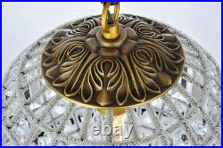 Crystal Chandelier French Gold Sphere Globe Dining Room Lighting 1 Light 18.5
