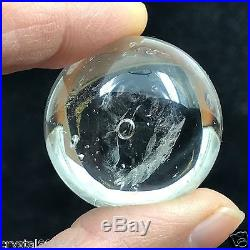 EASILY VISIBLE MOVING Bubble Enhydro Natural Clear Quartz Crystal Sphere ball #4