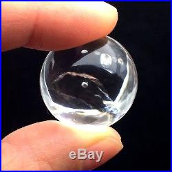 Easily Visible Moving Bubble Enhydro Natural Clear Quartz Crystal Sphere ball