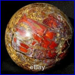 Giant 13cm Red & Gold Pietersite Sphere, Crystal Ball pts13ie195