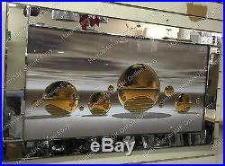 Gold/champagne spheres/balls with liquid art, crystals picture & misty background