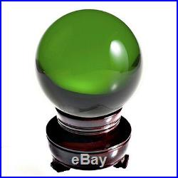 Green (Emerald) Crystal Ball 130mm 5 Include Wood Stand