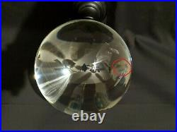 HAUNTED Large 5 3/4, Antique, Crystal Ball with Stand Scrying Fortune 9.2 lbs