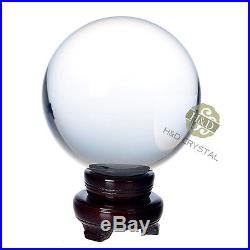 Hot Sell Asian Quartz Clear Crystal Ball Sphere 200mm + Wooden Stand