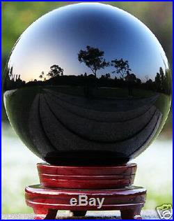 Hot Sell Natural Obsidian Polished Black Crystal Sphere Ball 100mm +stand