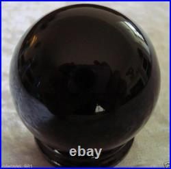 Hot Sell Natural Obsidian Polished Black Crystal Sphere Ball 40-200mm + Stand
