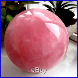 Huge! 16940g Natural rose quartz crystal sphere ball healing 37.34lb