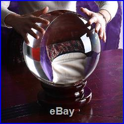Huge Crystal Ball 250MM Sphere Photography Props Meditation Ball Free stand