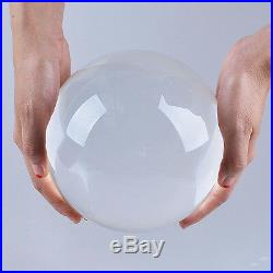 LONGWIN 150mm 5.91 D Clear Quartz Crystal Ball Sphere Photo Props Free Stand