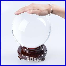 LONGWIN 180mm Big Crystal Ball Sphere Healing Crystals Photo Props Venue Decor