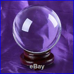 LONGWIN 200mm 7.87 D Clear Quartz Crystal Ball Sphere Photo Props Free Stand