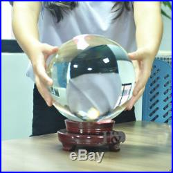 LONGWIN 250mm D Quartz Crystal Ball Sphere Wedding Centerpieces Rotable Stand