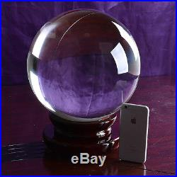 LONGWIN Huge Crystal Ball Glass Sphere Photography Prop Divination 250mm