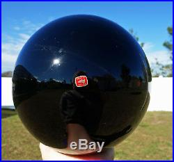 Large BLACK OBSIDIAN Scrying Mirror SPHERE Ball Gold Sheen Beauty 20 Pounds