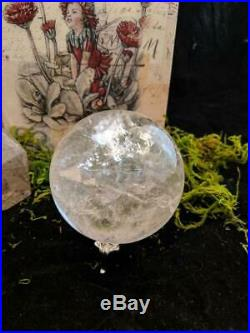 Large Clear Quartz Sphere Rainbow Healing Crystal Ball Polished Orb Natural