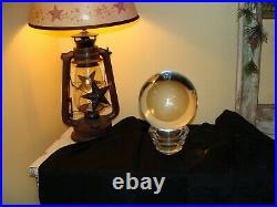 Large Over 6 Antique Vintage Crystal Ball On Stand 12 POUNDS 18 Round 160 mm
