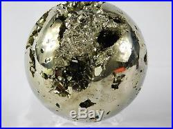 Large Pyrite Crystal Sphere Ball Cubes Fools Gold Iron Mineral Gift AGRADE 1.3KG
