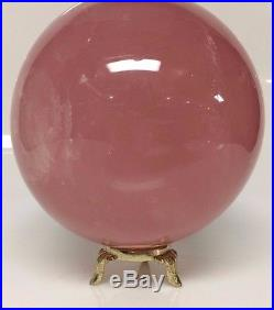 Large Rose Quartz Crystal Ball Sphere from Madagascar Amazing Quality with Stand