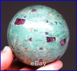 Large Ruby in Fuchsite Crystal Sphere Ball SPH121