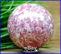 Lovely! Lilac Lepidolite Crystal Gemstone Sphere Healing Ball Ca1137