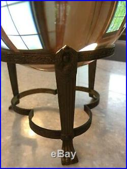 MASSIVE 8, Antique, Crystal Ball withBrass Metal Stand