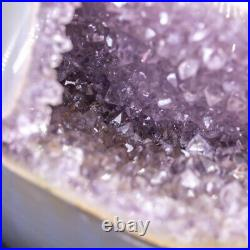 NATURAL Amethyst Geode Sphere Crystal Cluster Ball Healing Energy Decor Q41