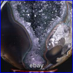 NATURAL Amethyst Geode Sphere Crystal Cluster Ball Healing Energy Decor Q48