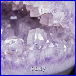 NATURAL Amethyst Geode Sphere Crystal Cluster Ball Healing Energy Decor Q71