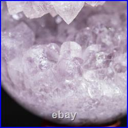 NATURAL Amethyst Geode Sphere Crystal Cluster Ball Healing Energy Decor Q72
