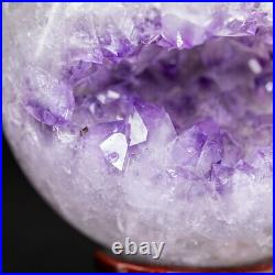 NATURAL Amethyst Geode Sphere Crystal Cluster Ball Healing Energy Decor Q74