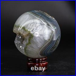 NATURAL Amethyst Geode Sphere Crystal Cluster Ball Healing Energy Decor Q78
