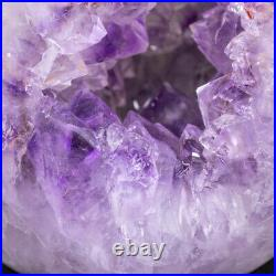 Natural Amethyst Geode Sphere Crystal Cluster Ball Healing Energy Decor Q24