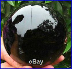 Natural Black Obsidian Sphere Large Crystal Ball Healing 40MM-110MM + STAND